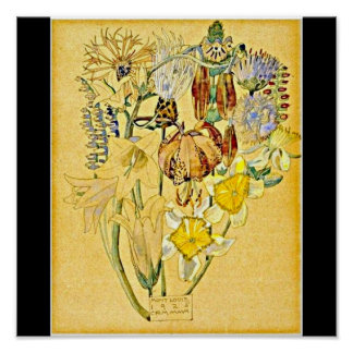 Poster-Vintage-Charles Rennie Mackintosh 26 Póster