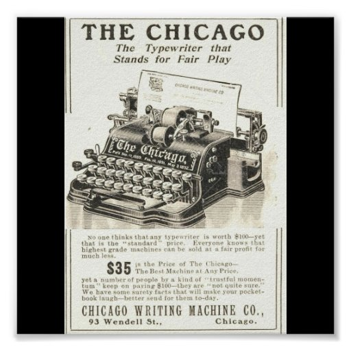 Poster-Vintage Chicago Art-The Chicago