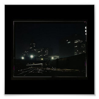 Poster-Vintage Chicago-Jack Delano-Night View Poster