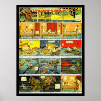 Poster-Vintage Cómico-Pequeño Nemo 1 Póster