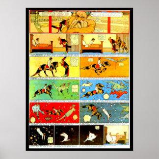 Poster-Vintage Cómico-Pequeño Nemo 7 Póster