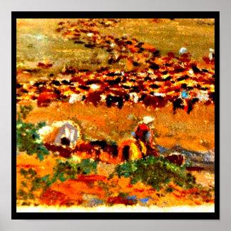 Poster-Vintage Dallas Artwork-Frank Reaugh 12 Poster