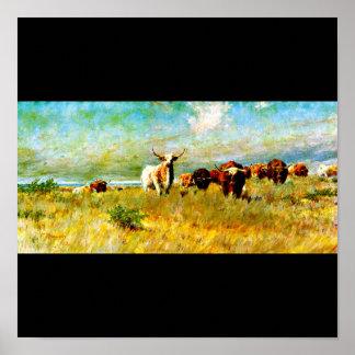Poster-Vintage Dallas Artwork-Frank Reaugh 4 Poster
