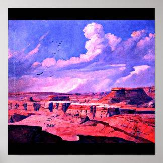 Poster-Vintage Dallas Artwork-Frank Reaugh 9 Poster