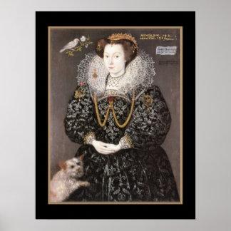 Poster Vintage Elizabeth Brydges 1589
