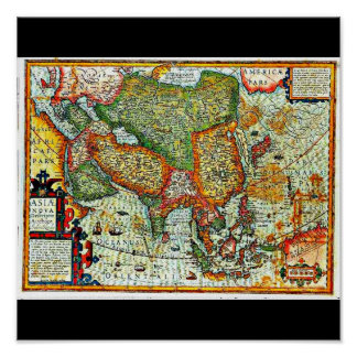 Poster-Vintage Maps-Jodocus Hondius 11 Poster