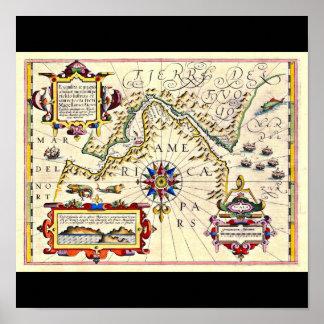 Poster-Vintage Maps-Jodocus Hondius 12 Poster