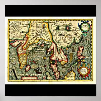 Poster-Vintage Maps-Jodocus Hondius 13 Poster