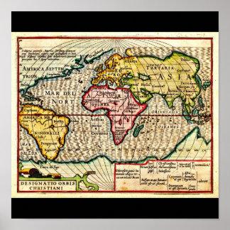 Poster-Vintage Maps-Jodocus Hondius 15 Poster