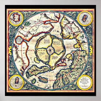 Poster-Vintage Maps-Jodocus Hondius 22 Poster