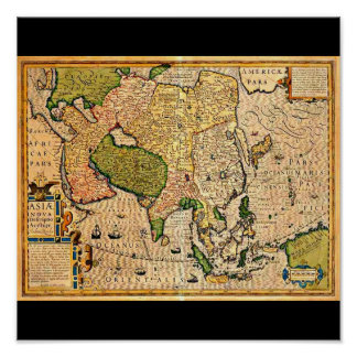 Poster-Vintage Maps-Jodocus Hondius 23 Poster
