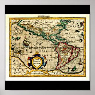 Poster-Vintage Maps-Jodocus Hondius 31 Poster