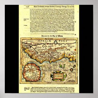 Poster-Vintage Maps-Jodocus Hondius 42 Poster