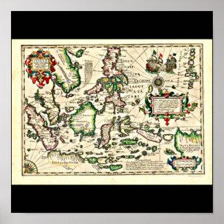 Poster-Vintage Maps-Jodocus Hondius 5 Poster