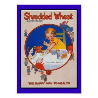 Poster Vintage Shredded Wheat Posters