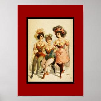 Poster Vintage Theater Three Women