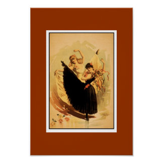 Poster Vintage Theater Two Dancers