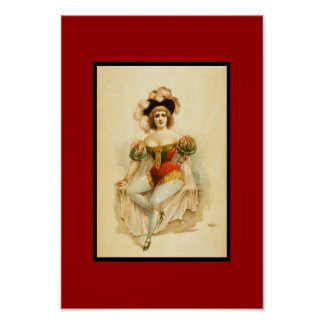 Poster Vintage Theater Woman