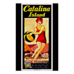 Poster-Vintage Travel Art-Catalina Island