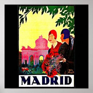 Poster-Vintage Travel Art-Madrid Poster