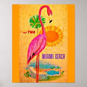 Beach Themed Poster-Vintage Travel Art-Miami Beach Poster