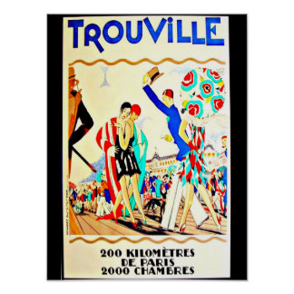 Poster-Vintage Travel Art-Trouville Poster