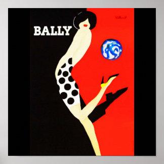 Poster-Vintage Travel-Bally Poster