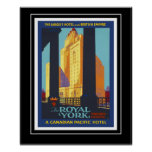 Poster Vintage Travel Poster Royal York Canada Print