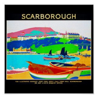 Poster-Vintage Travel-Scarborough Poster