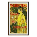 Poster Vintage Van Houtens Holland Cocoa Chocolate Print