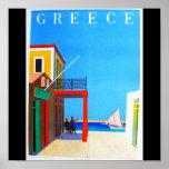 Poster-Vintage Viaje-Grecia