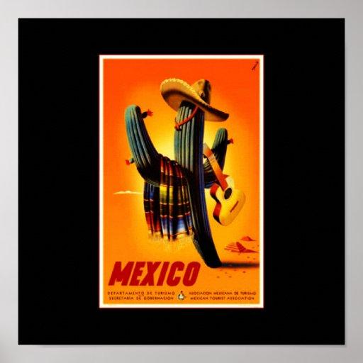 Poster-Vintage Viaje-México