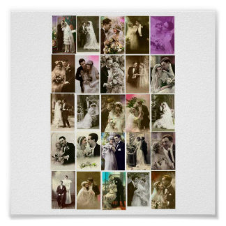 Poster-Vintage-Wedding Photos Poster