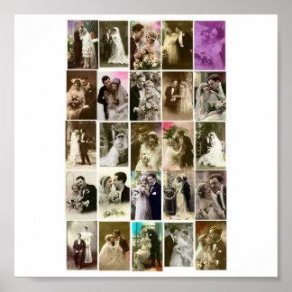 Poster-Vintage-Wedding Photos Poster