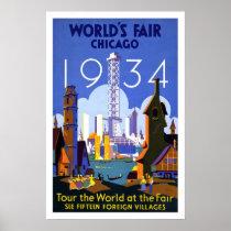 Poster-Vintage Worlds Fair Chicago 1934 Poster