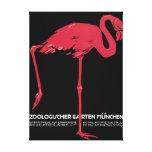 Poster vintage zoológico de Munich Lona Estirada Galerías