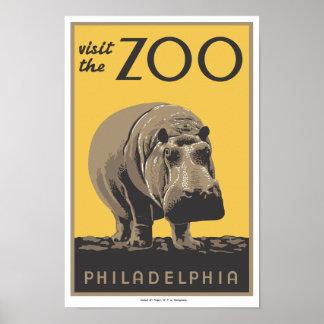 """Poster """"visita de WPA el parque zoológico"""" Philade"""