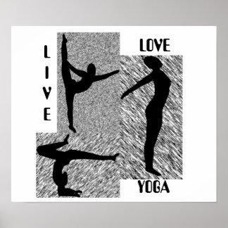 Poster vivo de la yoga del amor