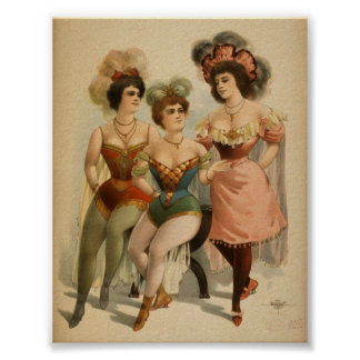 Poster - vodevil del vintage
