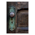 "Poster w/Options ""botón de puerta viejo"" por Juana"