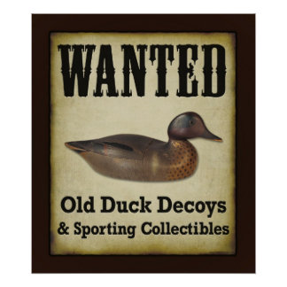 POSTER: Wanted - Duck Decoys Poster