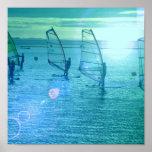 Poster Windsurfing del diseño