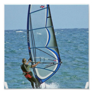 Poster Windsurfing tropical