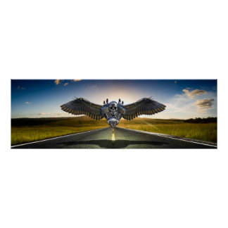 """Poster Wings of Anarchy Logo 36"""" x 12"""""""