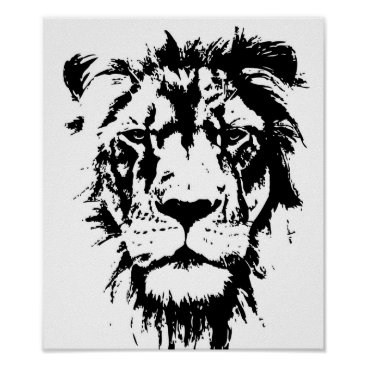 Professional Business Poster with a black and white print Leo