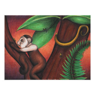 Poster With Art From Little Monkey - 20 x 24