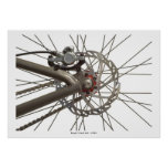 Poster with Bicycle Wheel Hub
