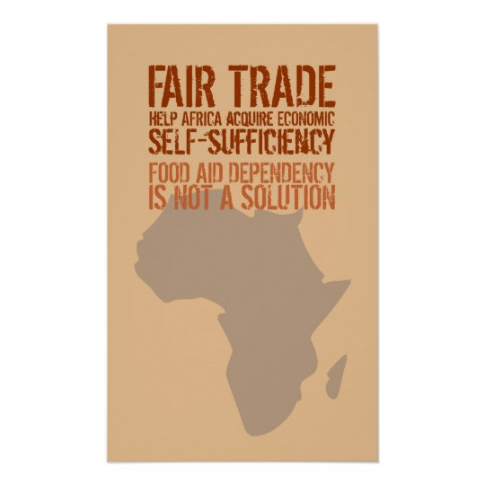 Poster with Fair Trade Message
