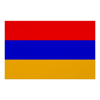 Poster with Flag of Armenia