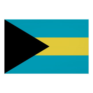 Poster with Flag of Bahamas